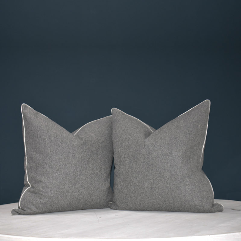 Cosy charcoal cushion