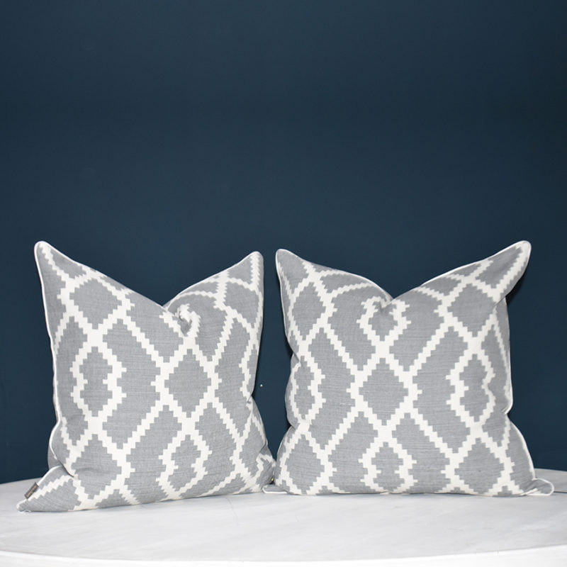Olivia light grey cushion